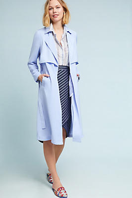 Slide View: 1: Waisted Trench Coat