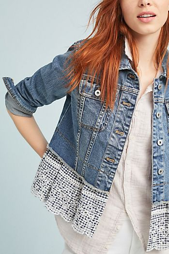 Pilcro Eyelet Denim Jacket