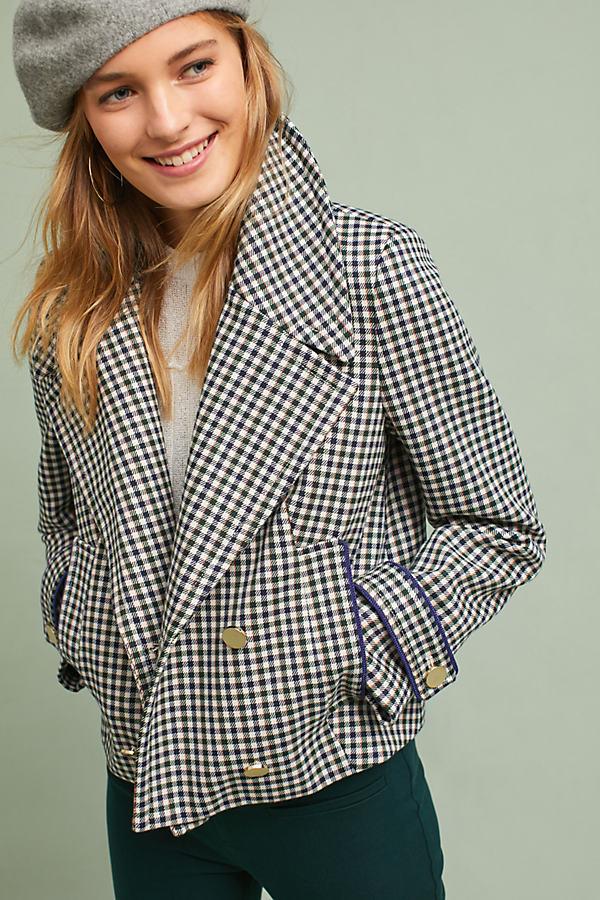 Etienne Checkered Jacket - Black Motif, Size S