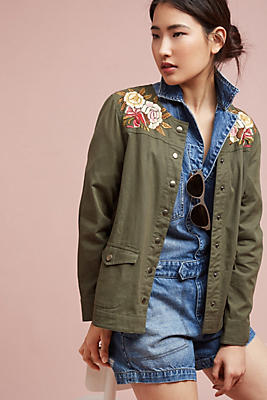 Slide View: 1: Souza Embroidered Jacket