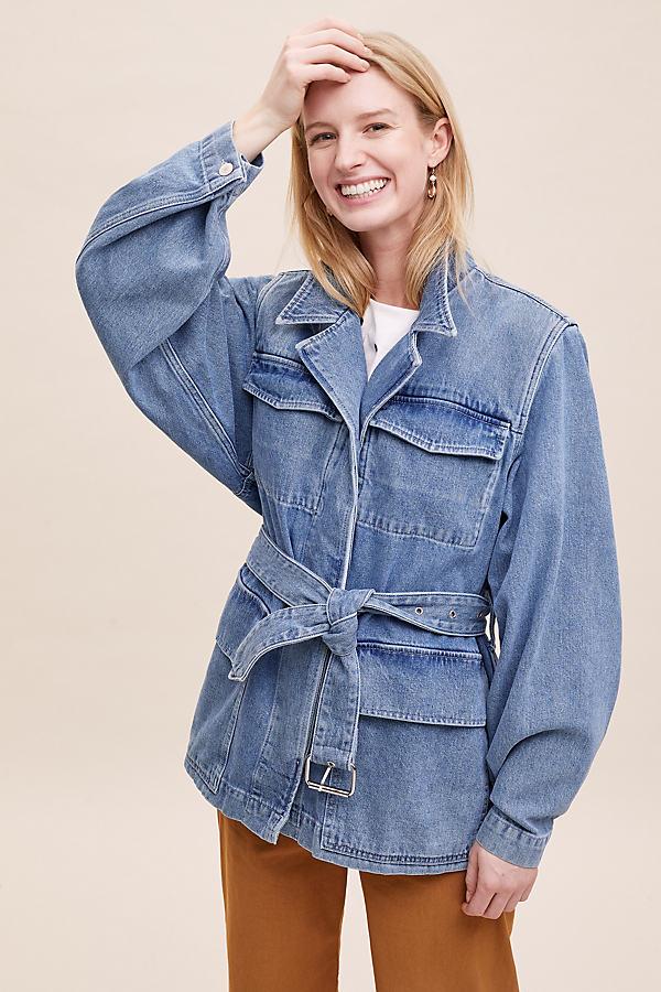 Selected Femme Studios Denim Jacket - Blue, Size Uk 14