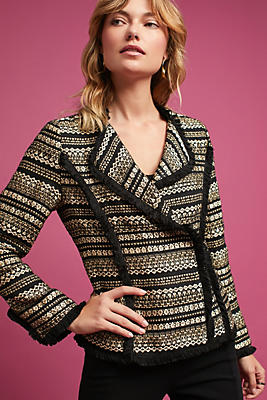 Slide View: 1: Metallic Tweed Jacket