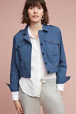 Slide View: 1: Cam Striped Jacket