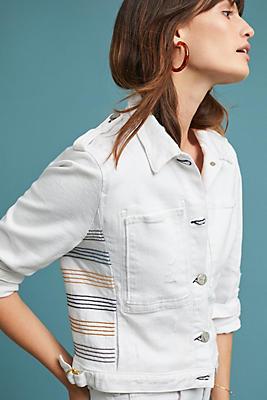 Slide View: 1: McGuire Baja Embroidered Denim Jacket