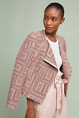 Slide View: 1: Cropped Geometric Jacket