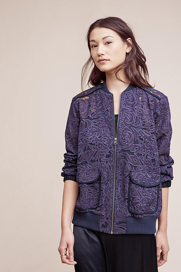 Slide View: 2: Miranda Lace Bomber