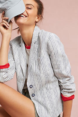 Slide View: 1: Beachy Linen Blazer