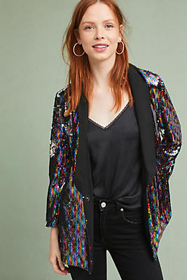 Slide View: 1: Sequined Blazer