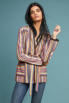 Slide View: 1: Mansoura Striped Jacket