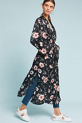 Slide View: 2: Garden In Bloom Kimono Jacket