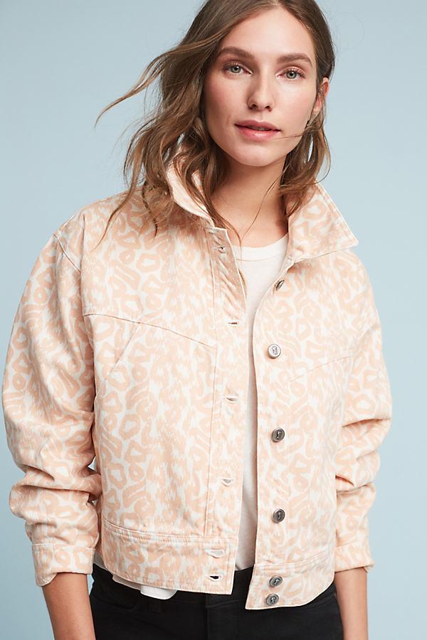 Pilcro Trucker Jacket, Pink - Coral, Size M