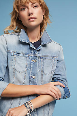 Slide View: 1: Pilcro Indigo Denim Boyfriend Jacket