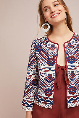 Slide View: 1: Greenwich Embroidered Jacket