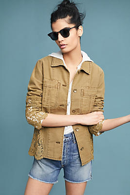 Slide View: 1: Laced Utility Jacket