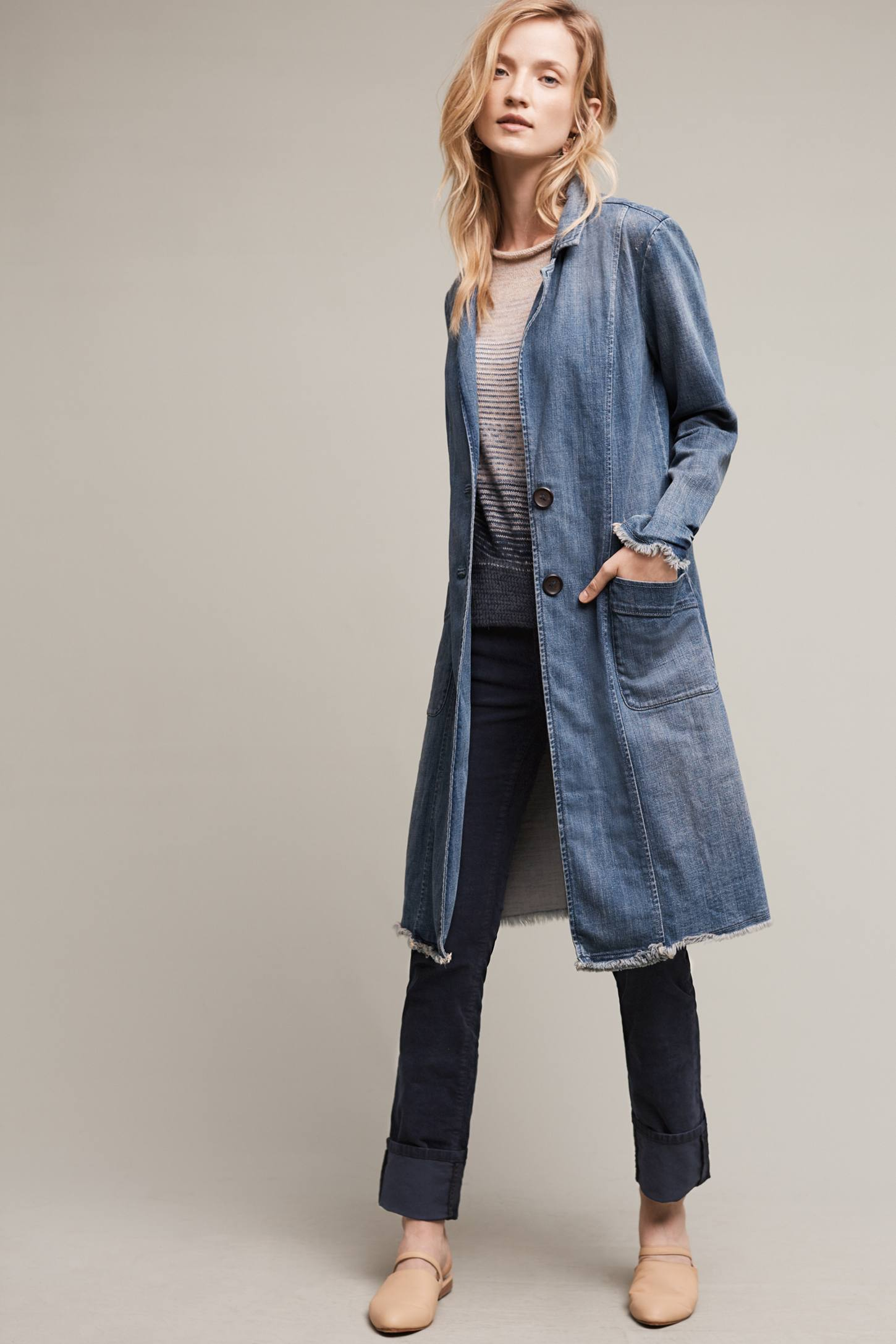 Pilcro Denim Duster Coat