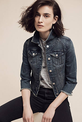 Pilcro Raw-Hemmed Denim Jacket