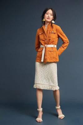 Tailored Safari Blazer by Anthropologie