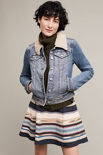 Pilcro Collared Denim Jacket