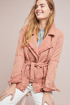 Slide View: 1: Everyday Belted Moto Jacket