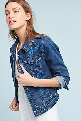 Slide View: 1: Pilco Sequined Denim Jacket