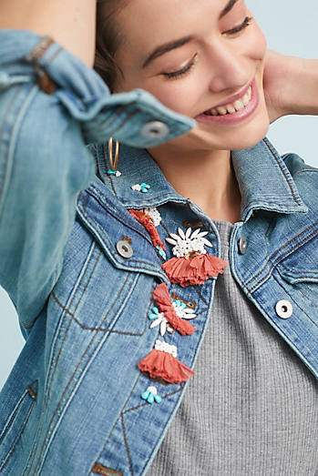 Pilcro Embellished Denim Jacket