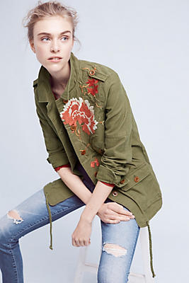 Slide View: 1: Embroidered Field Jacket