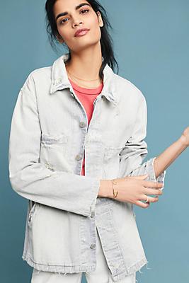 Slide View: 1: AMO Distressed Stripe Jacket