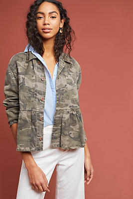 Slide View: 1: AMO Rosie Camo Jacket