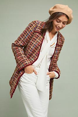 Slide View: 1: Harlequin Tweed Blazer