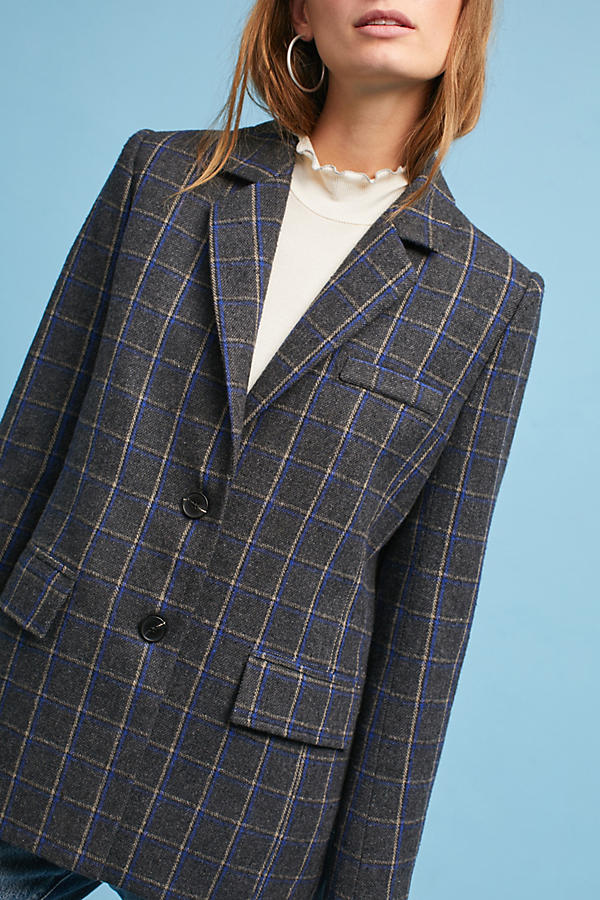 Slide View: 2: Daryl Plaid Blazer