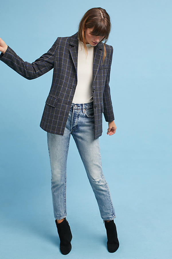 Slide View: 1: Daryl Plaid Blazer