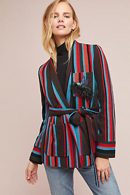 Slide View: 1: Capalbio Striped Sweater Jacket