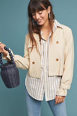 Slide View: 1: Delores Draped Jacket