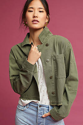 Slide View: 1: Utility Cropped Jacket