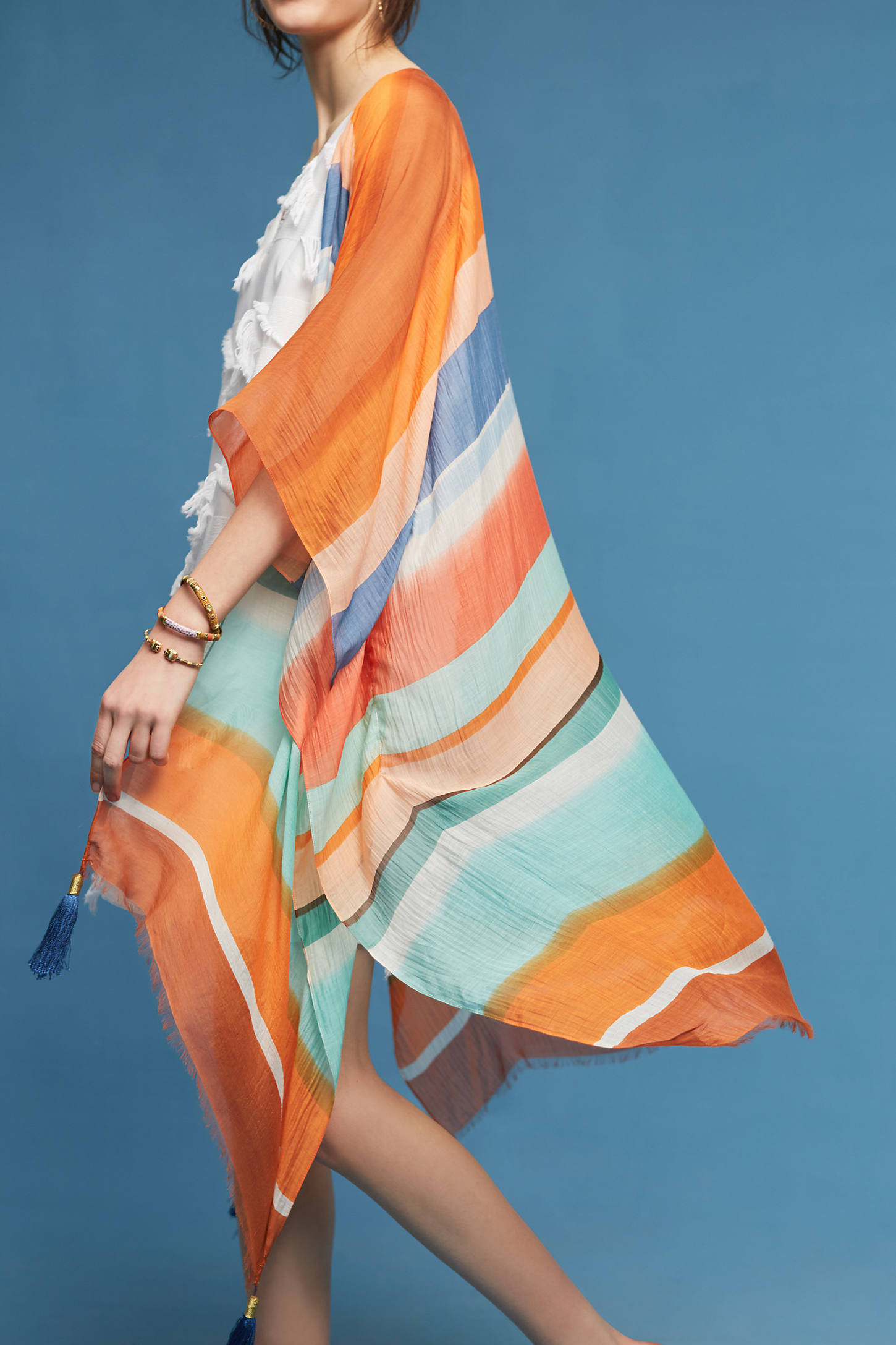 Yukamori Tasseled Kimono
