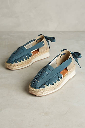 Naguisa Ribbon Lace-Up Espadrilles