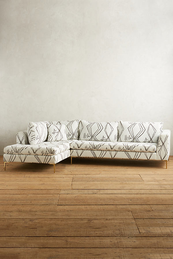 Berber-Woven Edlyn Left Sectional - Black & White