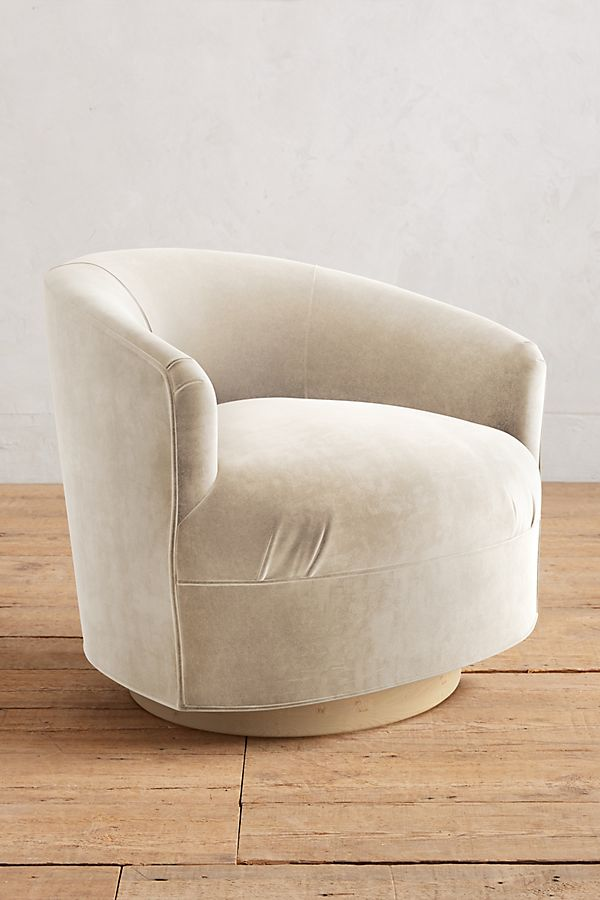 Slide View 1 Velvet Amoret Swivel Chair