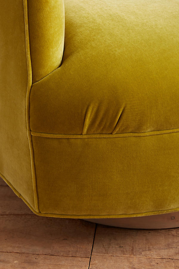Slide View: 2: Velvet Amoret Swivel Chair
