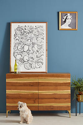 Slide View: 1: Prana Live-Edge Six-Drawer Dresser
