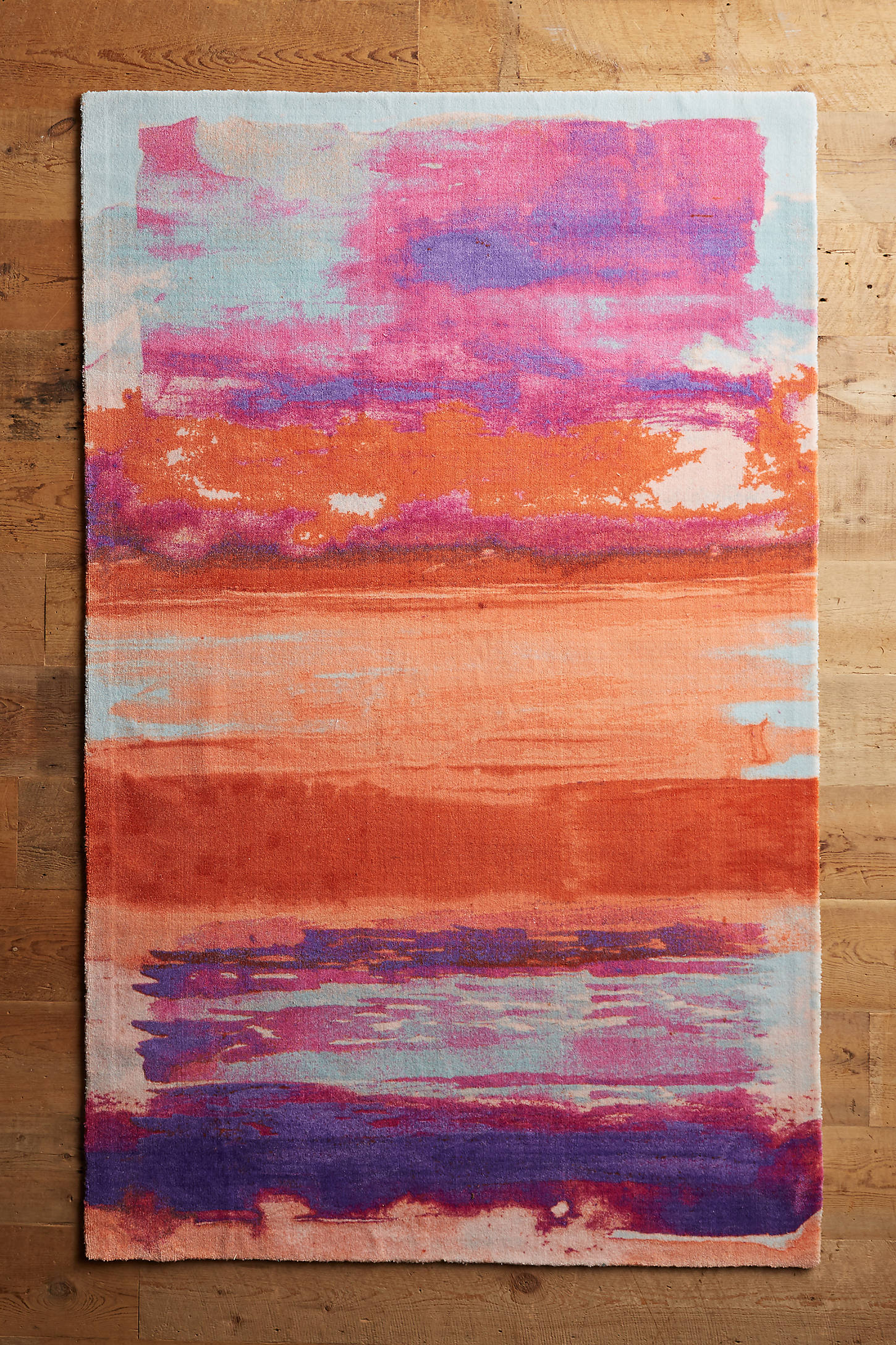 Ombre Brushstrokes Rug Swatch