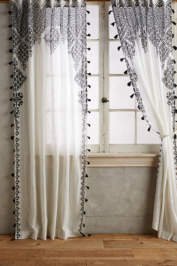 Adalet Curtain - Black, Size 50 X 108