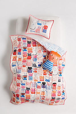 Slide View: 4: Carolyn Gavin Cat Collective Kids Quilt
