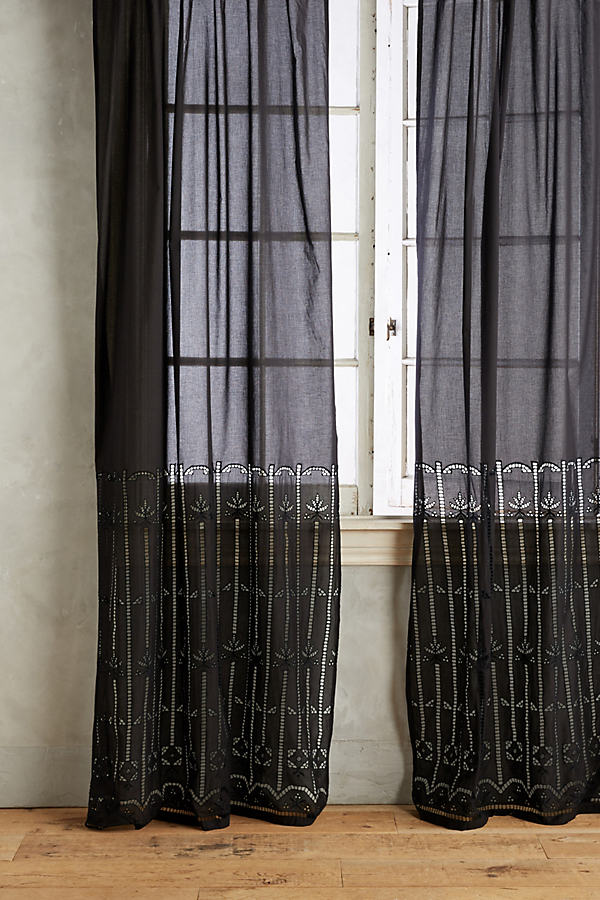 Emile Striped Curtain - Black, Size 50 X 84