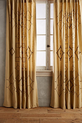 Slide View: 1: Embroidered Tura Curtain