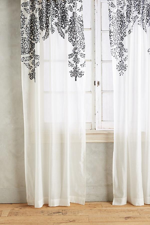 Fairuza Curtain - Black, Size 50 X 84