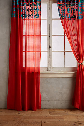Embroidered Diamond Curtain