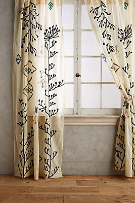 Slide View: 1: Embroidered Naome Curtain