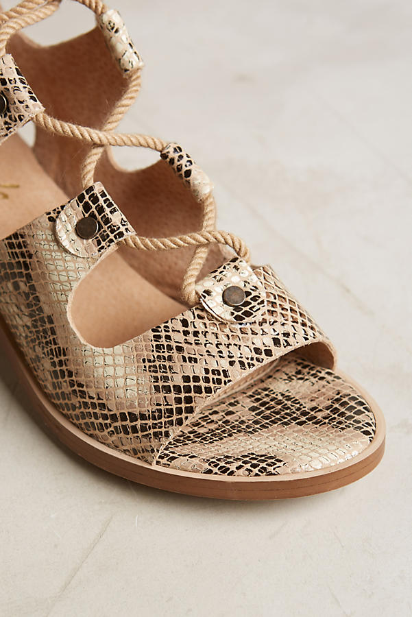 Slide View: 4: Liendo By Seychelles Marbella Lace-Up Sandals