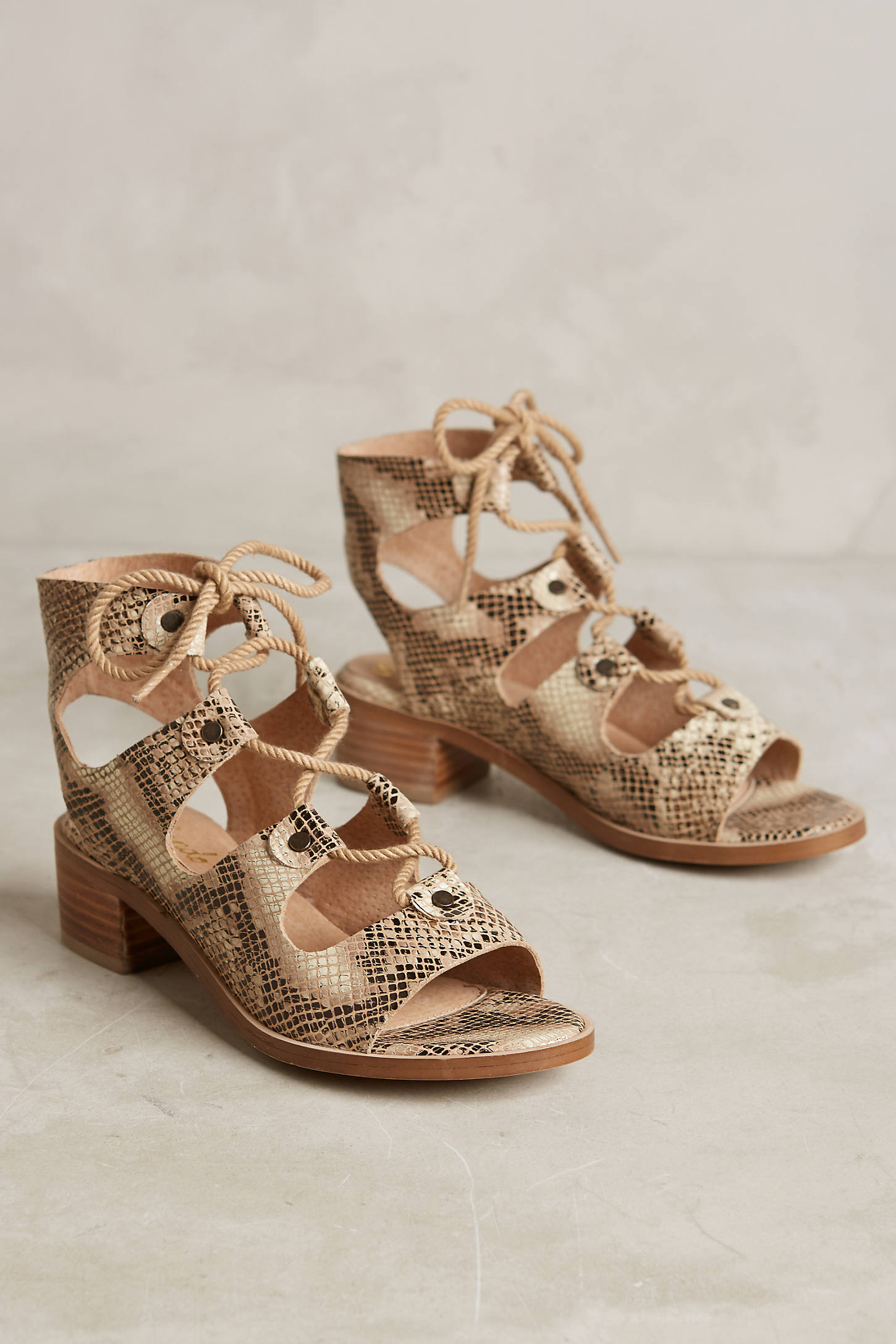 Liendo By Seychelles Marbella Lace-Up Sandals